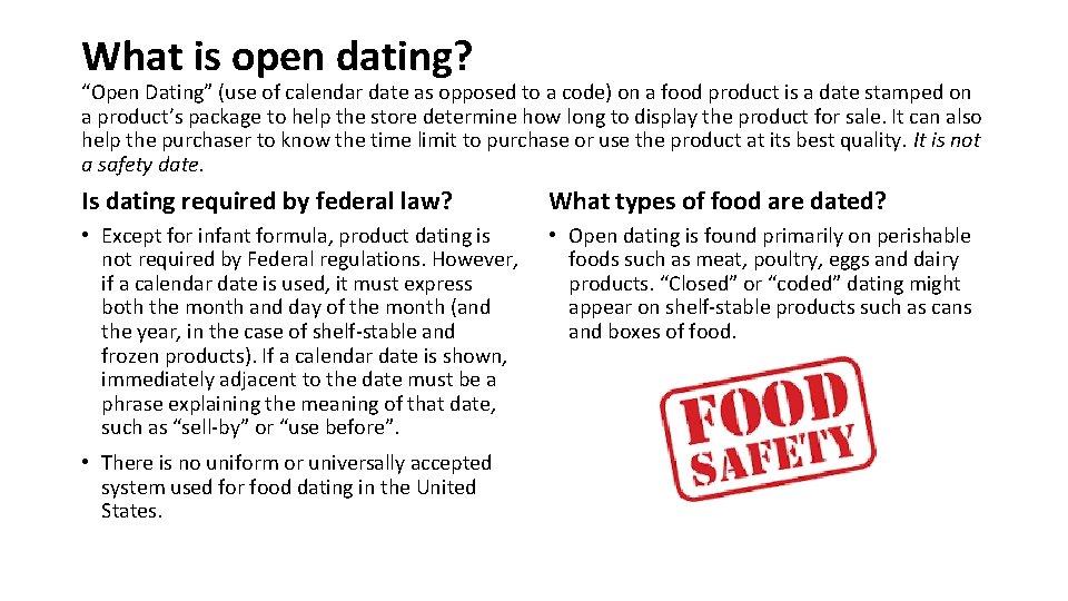 Open dating smooch dating asp entry