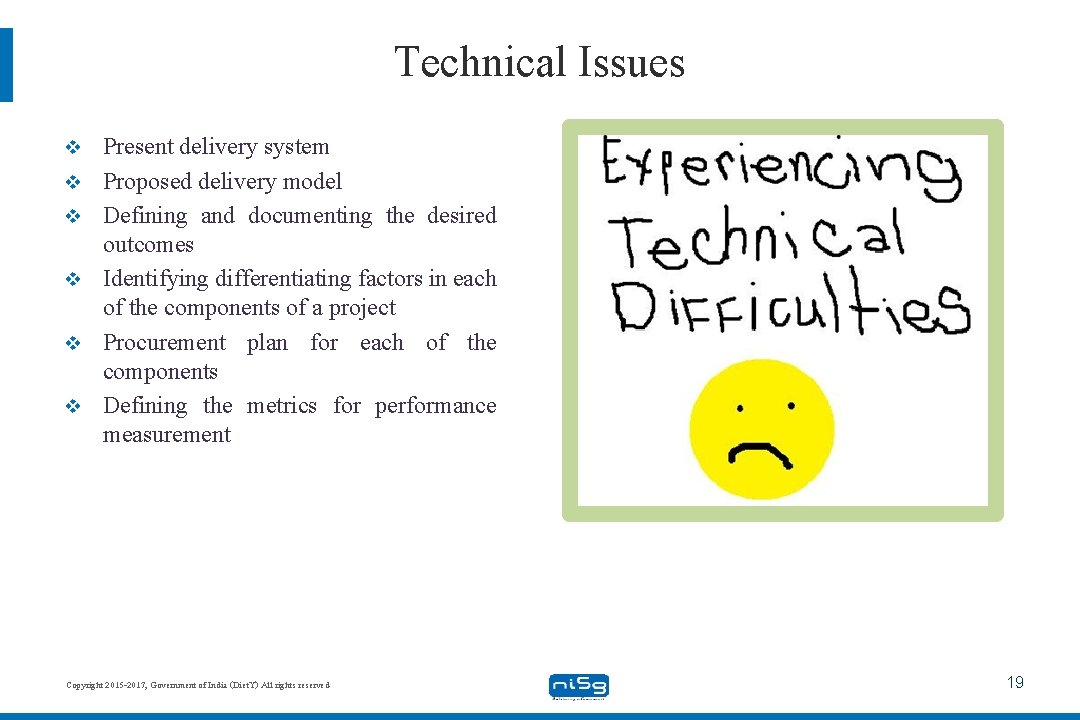 Technical Issues v v v Present delivery system Proposed delivery model Defining and documenting