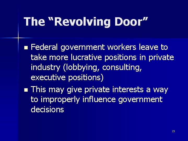"""The """"Revolving Door"""" Federal government workers leave to take more lucrative positions in private"""