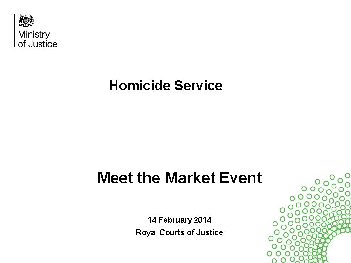 homicide service meet the market event 14 february