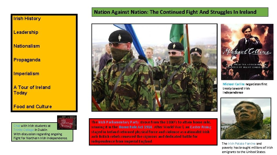 Nation Against Nation: The Continued Fight And Struggles In Ireland Irish History Leadership Nationalism
