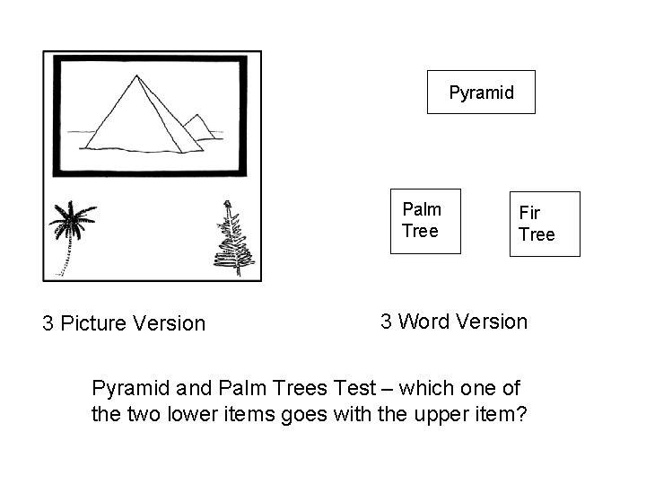 Pyramid Palm Tree 3 Picture Version Fir Tree 3 Word Version Pyramid and Palm
