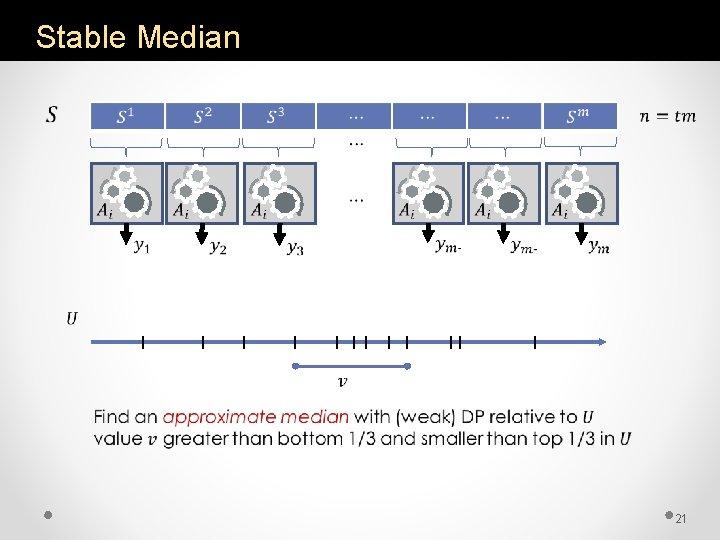Stable Median 21