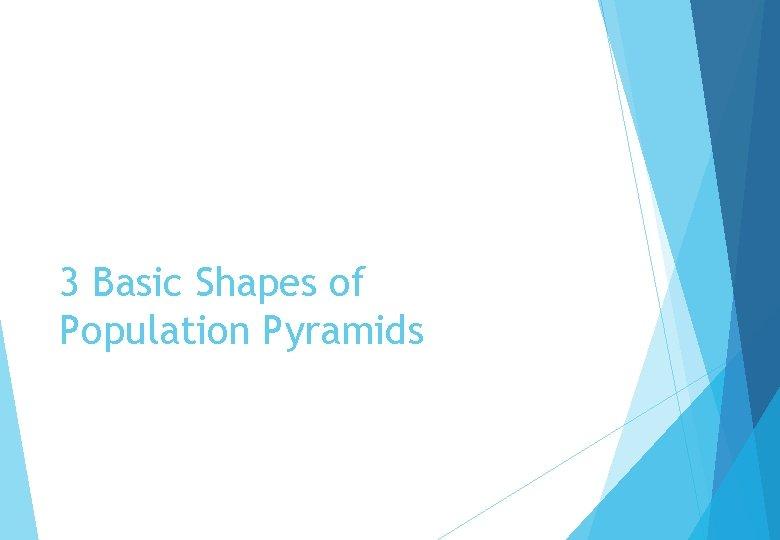 3 Basic Shapes of Population Pyramids
