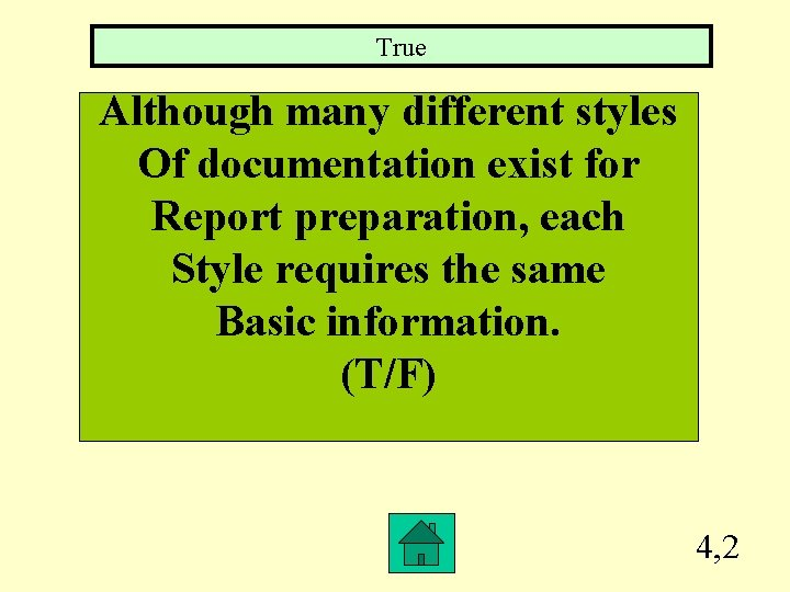 True Although many different styles Of documentation exist for Report preparation, each Style requires