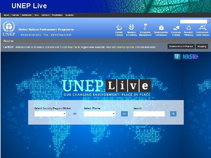 UNEP Live