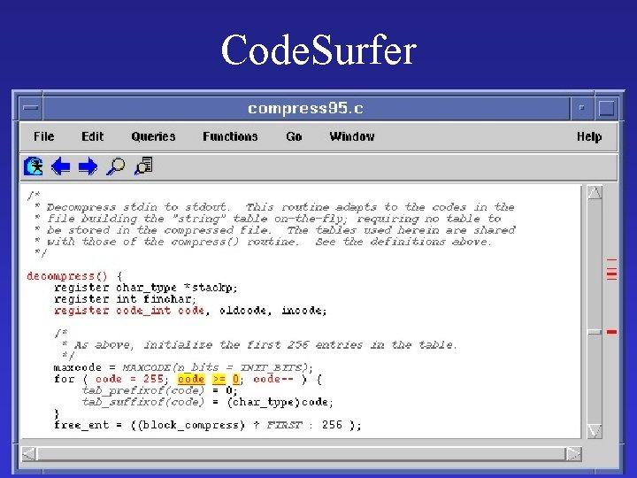 Code. Surfer