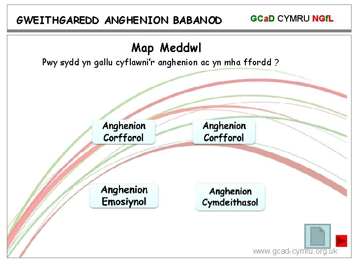 GWEITHGAREDD ANGHENION BABANOD GCa. D CYMRU NGf. L Map Meddwl Pwy sydd yn gallu