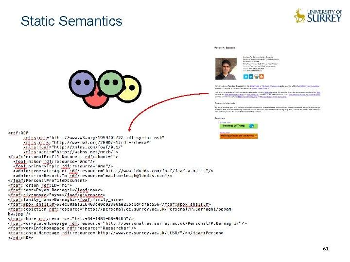 Static Semantics 61