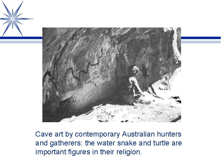 Cave art by contemporary Australian hunters and gatherers: the water snake and turtle are