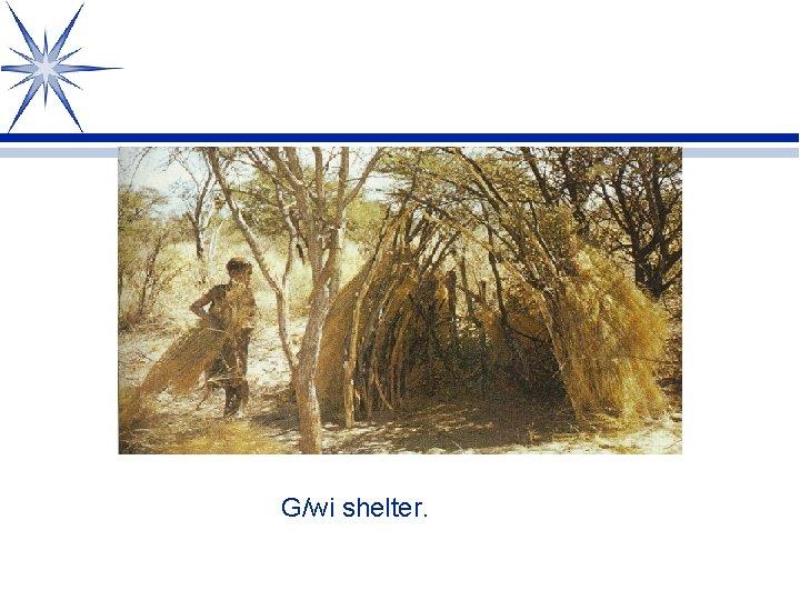 G/wi shelter.