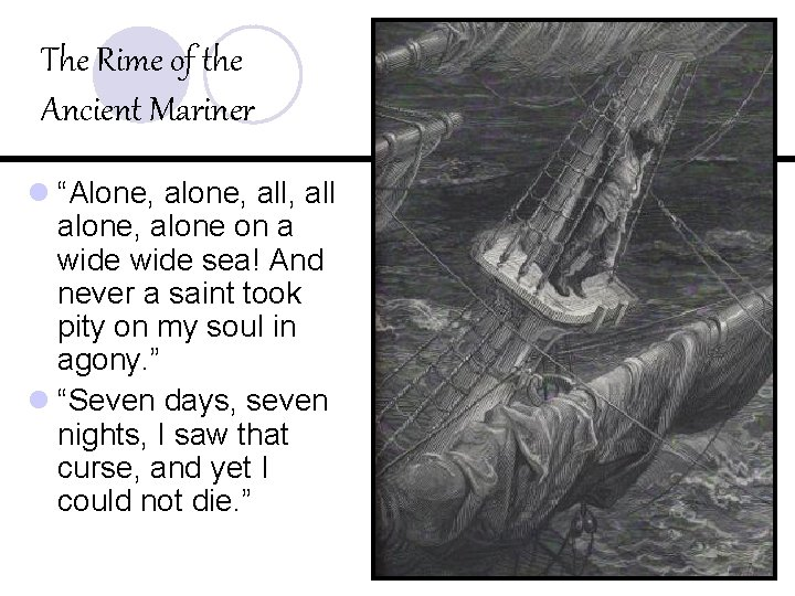 """The Rime of the Ancient Mariner l """"Alone, all, all alone, alone on a"""
