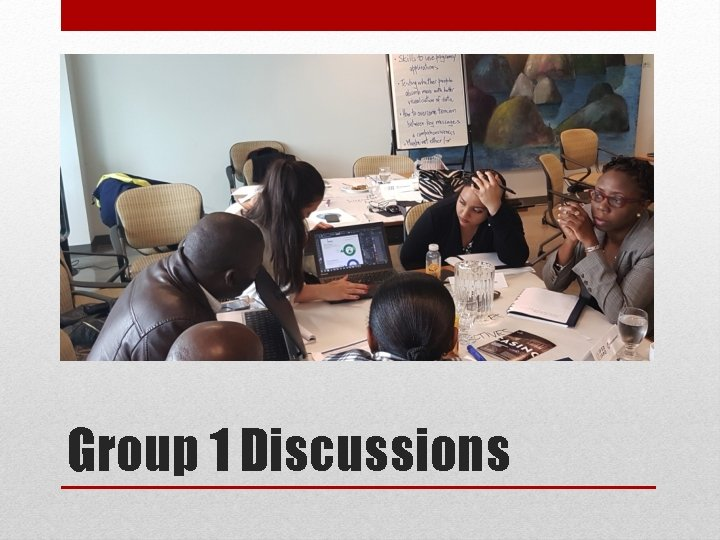 Group 1 Discussions