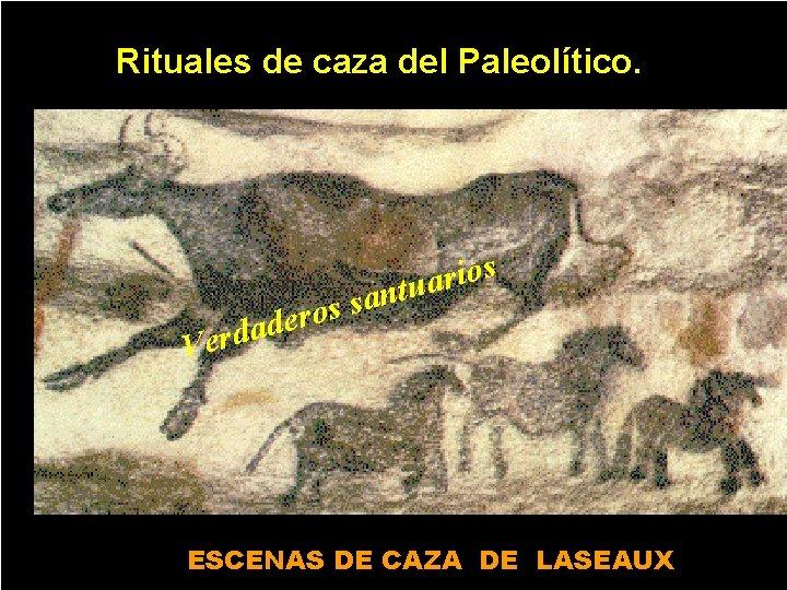 Rituales de caza del Paleolítico. s o i r a u t n a