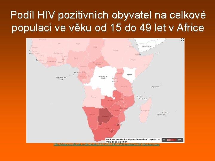 Podíl HIV pozitivních obyvatel na celkové populaci ve věku od 15 do 49 let