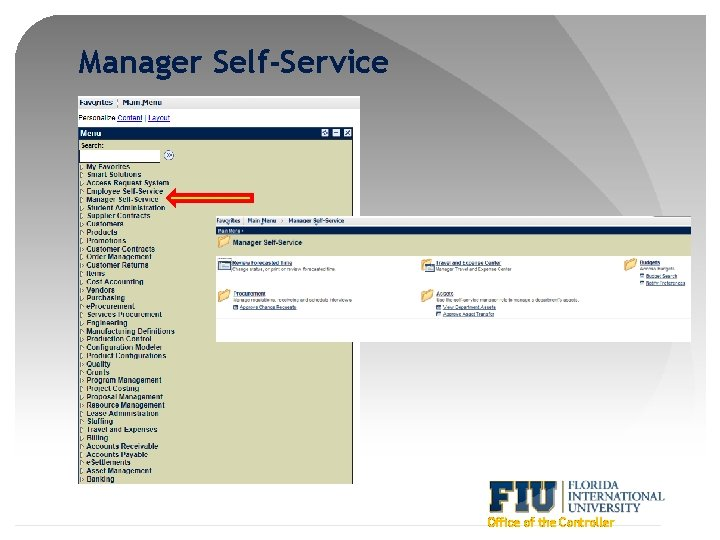 Manager Self-Service Office of the Controller