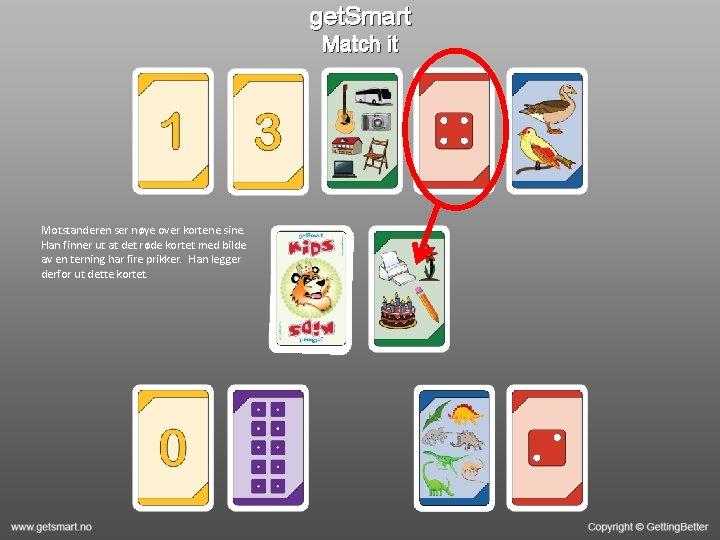 get. Smart Match it Motstanderen ser nøye over kortene sine. Han finner ut at