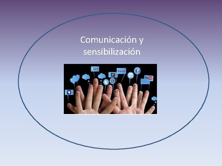 Comunicación y sensibilización