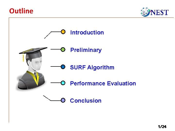 Outline Introduction Preliminary SURF Algorithm Performance Evaluation Conclusion 1/24