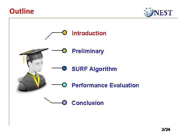 Outline Introduction Preliminary SURF Algorithm Performance Evaluation Conclusion 2/24