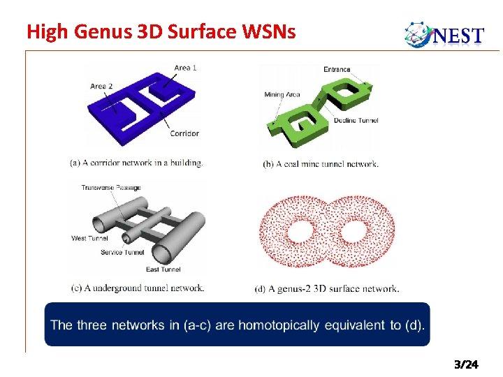 High Genus 3 D Surface WSNs 3/24
