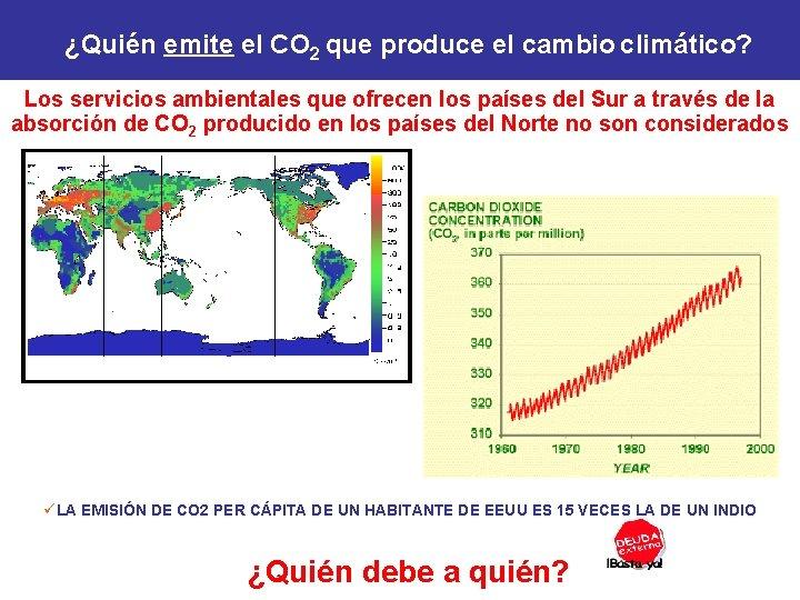 ¿Quién emite el CO 2 que produce el cambio climático? Los servicios ambientales que
