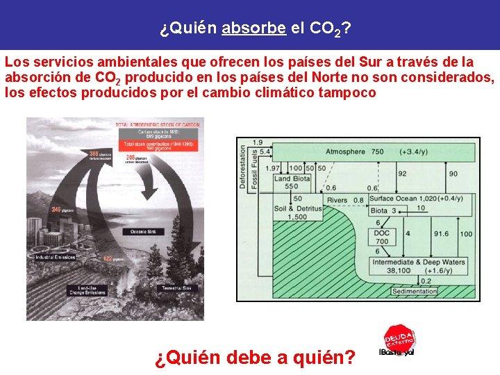 ¿Quién absorbe el CO 2? Los servicios ambientales que ofrecen los países del Sur