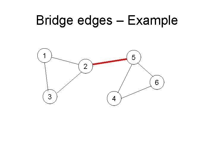 Bridge edges – Example 1 5 2 6 3 4