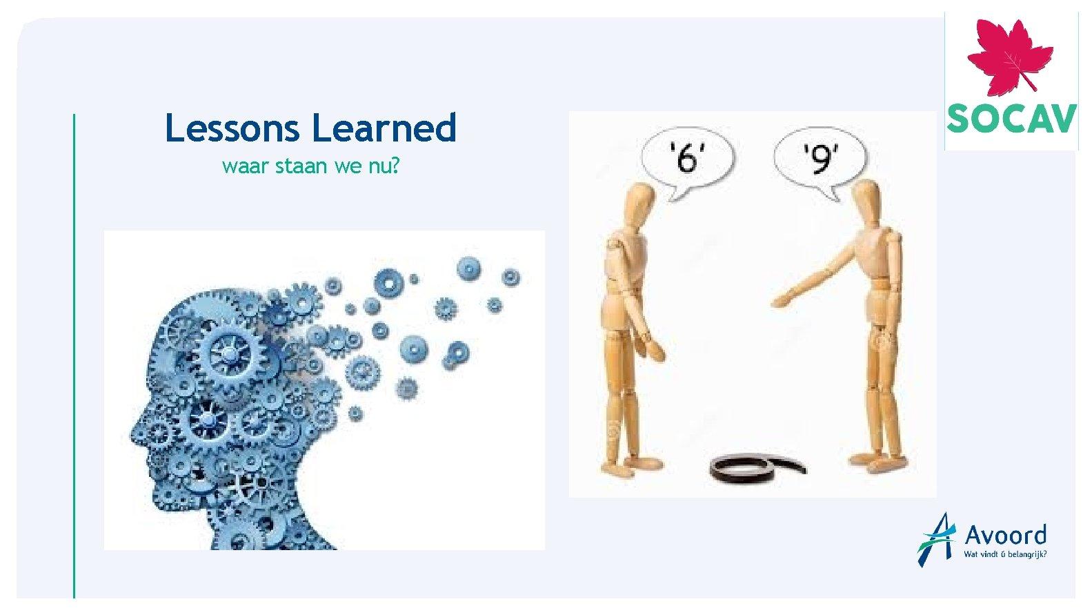 Lessons Learned waar staan we nu?