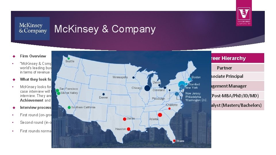 """Mc. Kinsey & Company Firm Overview • """"Mc. Kinsey & Company is a global"""