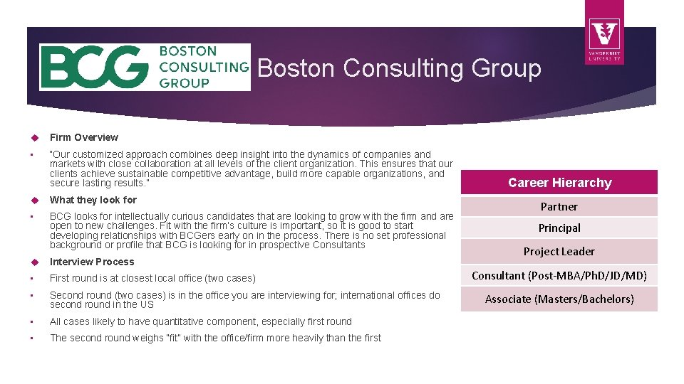 """Boston Consulting Group Firm Overview • """"Our customized approach combines deep insight into the"""
