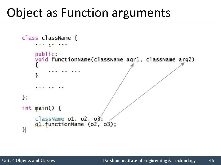 Object as Function arguments I like C++ so much I like Rupesh sir Unit-4