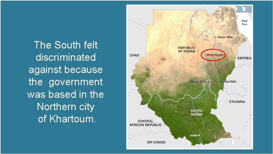 The South felt discriminated against because the government was based in the Northern city