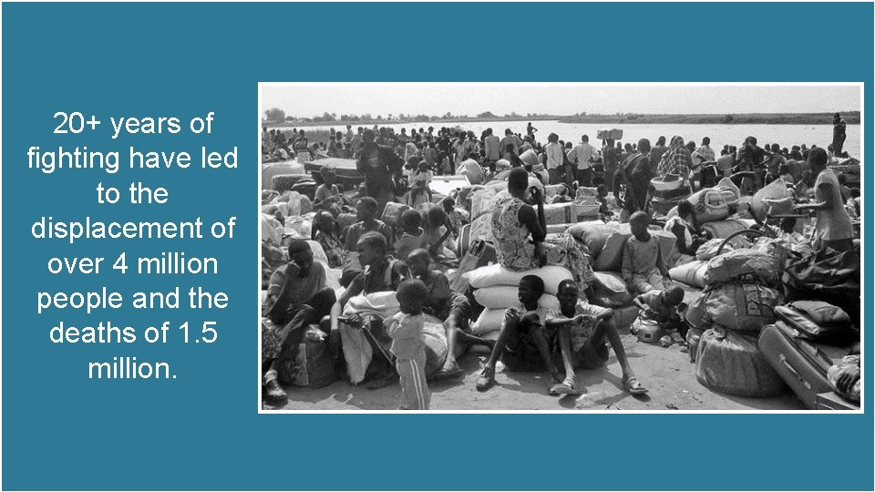 20+ years of fighting have led to the displacement of over 4 million people