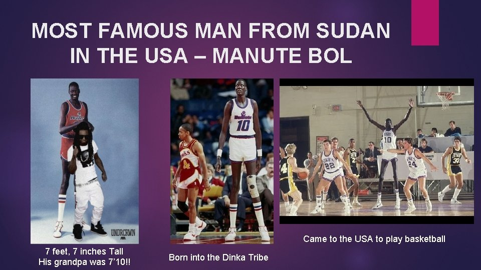MOST FAMOUS MAN FROM SUDAN IN THE USA – MANUTE BOL Came to the
