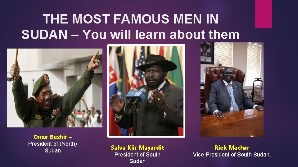 THE MOST FAMOUS MEN IN SUDAN – You will learn about them today. Omar