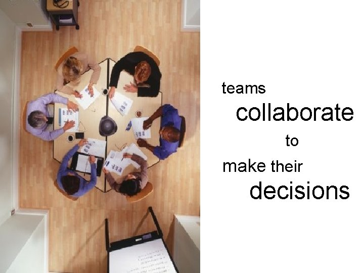 teams collaborate to make their decisions