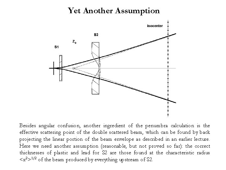 Yet Another Assumption Besides angular confusion, another ingredient of the penumbra calculation is the