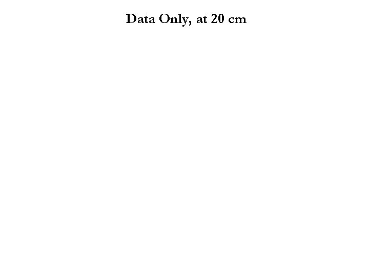Data Only, at 20 cm