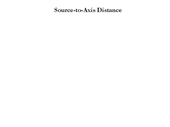 Source-to-Axis Distance