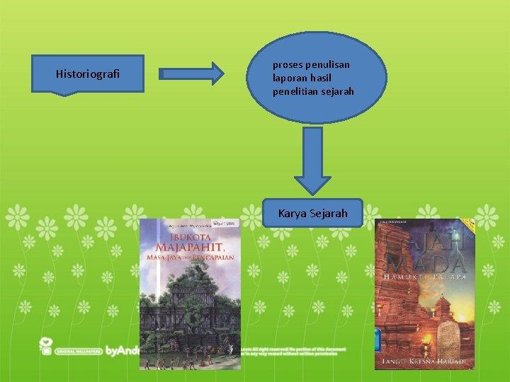 Historiografi proses penulisan laporan hasil penelitian sejarah Karya Sejarah