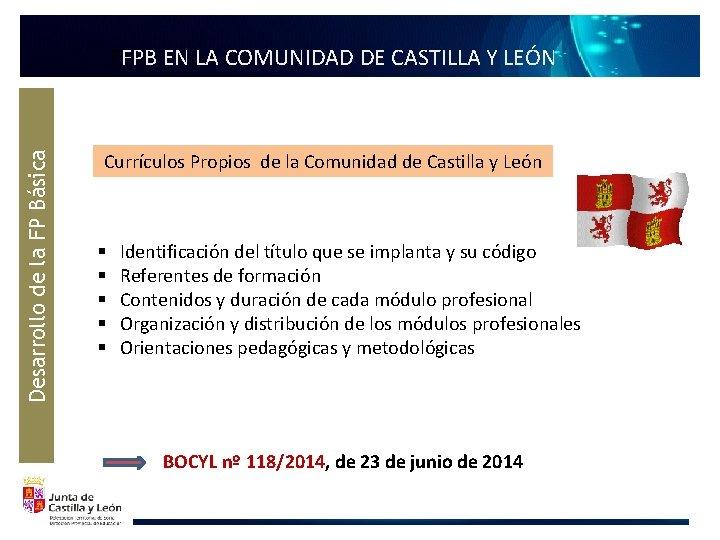 Desarrollo de la FP Básica FFPB EN LA COMUNIDAD DE CASTILLA Y LEÓN Currículos