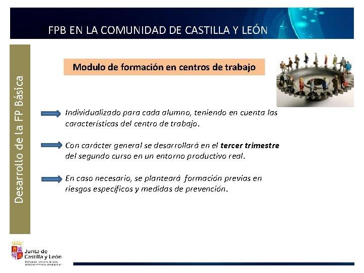 FFPB EN LA COMUNIDAD DE CASTILLA Y LEÓN Desarrollo de la FP Básica Modulo