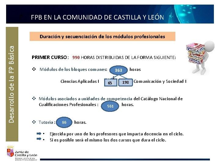 F FPB EN LA COMUNIDAD DE CASTILLA Y LEÓN Desarrollo de la FP Básica