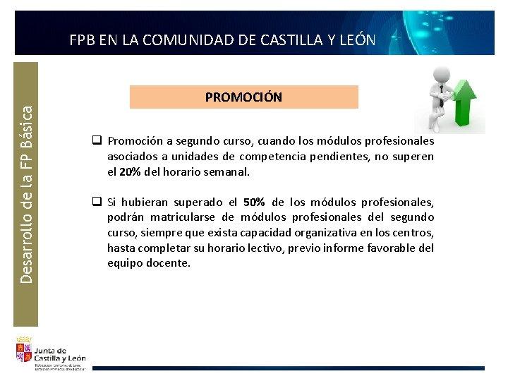 Desarrollo de la FP Básica FPB EN LA COMUNIDAD DE CASTILLA Y LEÓN PROMOCIÓN