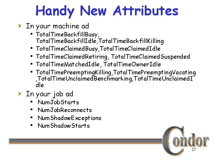 Handy New Attributes › In your machine ad h Total. Time. Backfill. Busy, Total.