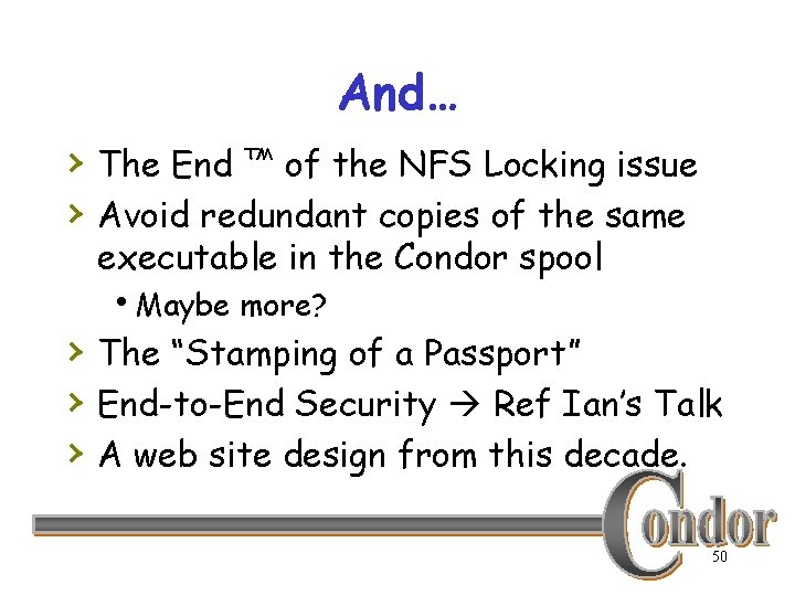 And… › The End ™ of the NFS Locking issue › Avoid redundant copies