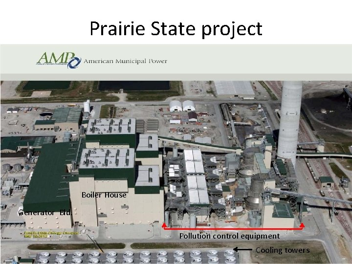 Prairie State project Boiler House Generator Bld. Pollution control equipment Cooling towers