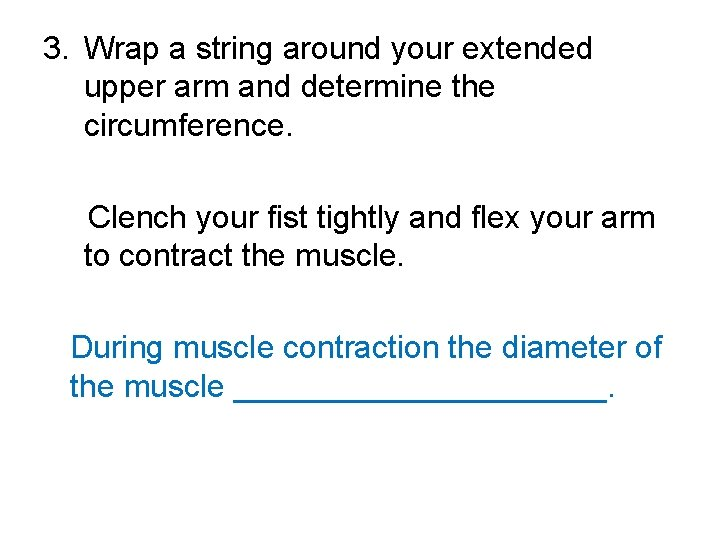 3. Wrap a string around your extended upper arm and determine the circumference. Clench