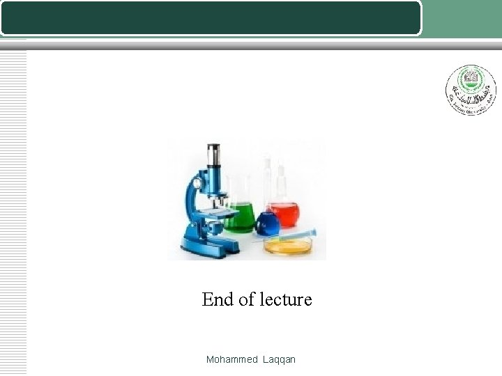 End of lecture Mohammed Laqqan